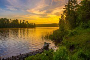Sunset at Schlatter Lake
