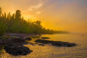 Foggy High Rock Bay