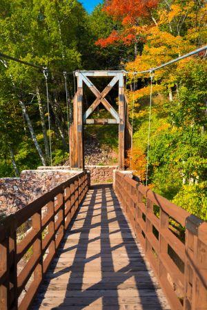 Black River Harbor Suspension Bridge