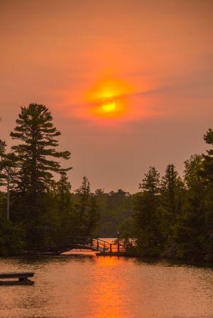 Smoky Copper Harbor Sunset