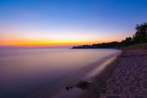 Twilit Great Sand Bay