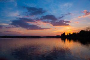 Sunday Lake Sunset